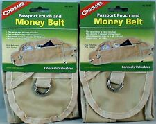 2PK MONEY  BELT FOR CASH, PASSPORT CREDIT CARDS ZIPPER POUCH STRAPS AROUND WAIST