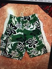 Boy's CHILDREN' S PLACE GREEN FLORAL BATHING SUIT /SWIMMING TRUNKS/ SIZE 7/8