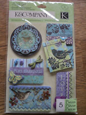 K&CO SUSAN WINGET BOTANICAL STITCHED ADORNMENTS GRAND ADHESIONS BNIP