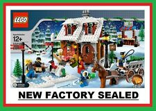 LEGO 10216 Christmas Creator Winter Village City Town Bakery tree figure skater