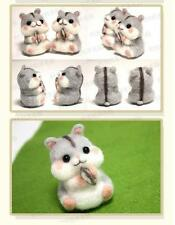 DIY Package Wool Felt Craft Needle Felting Animal hamster Keychain Material