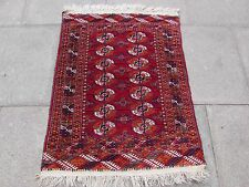 Fine Old Traditional Hand Made Turkoman Tekke Bokhara Wool Red  Rug 110x83cm