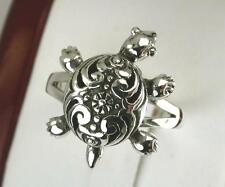 AWESOME STERLING SILVER MOVABLE TURTLE RING size 7  style# r0604