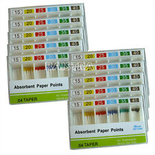 100 Packs New Absorbent Paper Points 04 15-40# For Dental Use CE FDA