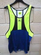 VINTAGE Débardeur running ADIDAS Equipment sprint course shirt XL fluo