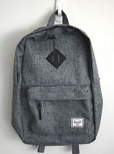 HERSCHEL SUPPLY CO HERITAGE 14.5L CROSSHATCH GREY BACKPACK MSRP $60 NEW w/TAG!!