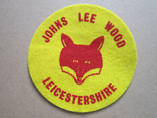 Johns Lee Wood Yellow Felt Cloth Patch Badge Boy Scouts Scouting