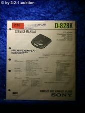 Sony Service Manual D 828k CD Player (#0238)