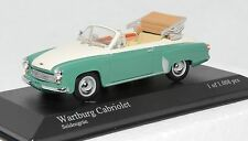 1/43 Minichamps 430 015934 Wartburg 312 cabriolet 1958 cream/green MIB