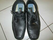 Mens Bata Mocassino Black Leather Tie Loafer Driving Shoe SZ 7