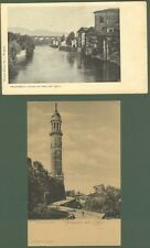 PALAZZOLO SULL'OGLIO. Due cartoline non viaggiate, inizio 1900.