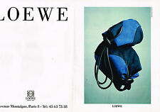 PUBLICITE ADVERTISING 074  1991  LOEWE  sacs de luxe maroquinerie  ( 2 pages)