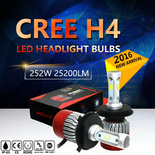 H4 252W 25200LM CREE LED Headlight Kit Hi/Low Beam Bulb White 6000K High Power