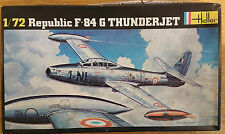 Republic F-84 G Thunderjet Heller 1/72 RETRO model aircraft kit Sealed Bag #202R