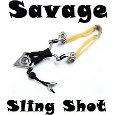 Savage Sling Shot Hunting Metal Rubber Hard Powerful with Compass and BBs