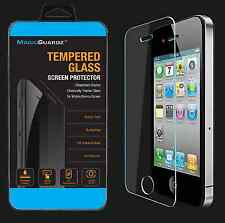 High Quality Tempered Glass Film Screen Protector Guard For Apple iPhone 4 4S