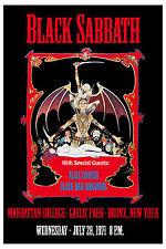 Rock: Black Sabbath &  Alice Cooper at Manhattan College Bronx NY Poster 1971