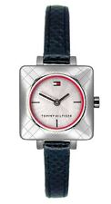 newstuffdaily: NIB TOMMY HILFIGER Square Case Black Leather Ladies Watch etm
