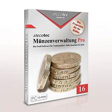 Stecotec monete-gestione Pro 16 [CD-ROM] Profi-software F. DA COLLEZIONE-programma