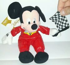 CAR RACING MICKEY PLUSH DISNEY 24Cm Peluche Topolino Figure Mickey Mouse Pupazzo