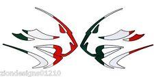 Aprilia lions head Italian flat colour Motorcycle graphics  decals x 2PCS SMALL