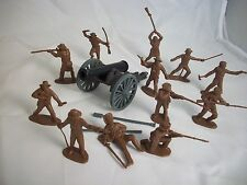 Classic Toy Soldiers 1/32nd plastic Alamo Texan Defenders 12 figures & Cannon