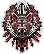 "Wolf Haida Native American Indian Aztec Car Bumper Vinyl Sticker Decal 4""X5"""