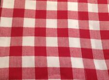 Valance Curtains Red White Gingham Check Lined Kitchen 182x41cm New.