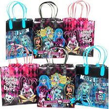 12 Monster High Party Favor Bags Goodie Loot Tote Candy Treats