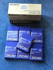 7 x Sony DVCAM Digital Video Cassettes PDVM-12N Blank Tape Media - NEW