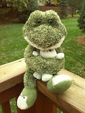 Animal Adventure Plush Frog Mom Dad Holding Baby Green Slippers Stuffed Boy Girl