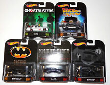 HOT WHEELS 2017 RETRO ENTERTAINMENT 5-CAR SET DMC55 A CASE BATMAN BATWING ECTO