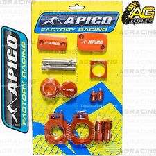 Apico Bling Pack Orange Blocks Caps Plugs Nuts Clamp Covers For KTM SX 150 2015