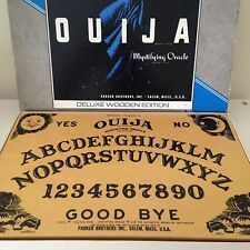 1967  Deluxe Wooden Ouija Board With Planchette William Fuld Halloween Occult