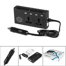 200W DC 12V to AC 110V Car Smart Power Inverter w/4-USB+Dual AC Sockets Adapter