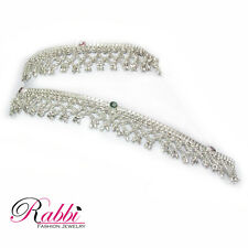 Net Design Traditional silver plated  anklet (payal)