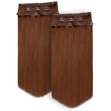 Luxury 100% Remy Lace Weft Clip in Human Hair Extensions - Twin Pack