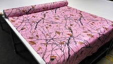 "HUNTING CAMO TRUE TIMBER SNOWFALL PINK FABRIC 60""W POLY SOFT TAFFETA CAMOUFLAGE"