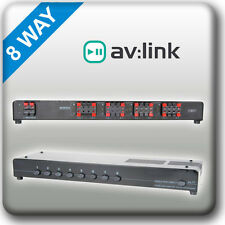 P6b1 Av: enlace De Audio 8 Way Altavoz Divisor Conmutador Selector Multi Room estéreo