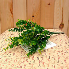 7-Branches Artificial Fake Plastic Silk Eucalyptus Plant Flowers Cafe Decor