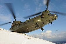 RAF Chinook Helicopter Royal Air Force Odiham Food Aid Northern Ireland 12x8""