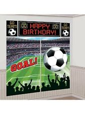 SOCCER BALL SCENE SETTER Happy Birthday TEAM GAME Party Wall Decoration Decor