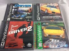 Playstation 1 Racing Lot DRIVER 1 & 2, Need For Speed Hot Pursuit 3 Porsche