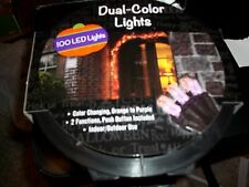 HALLOWEEN DUAL COLOR 100 LED LIGHTS COLOR CHANGING ORANGE TO PURPLE IN/OUTDOOR