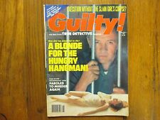 """Winter, 1981  """"GUILTY!""""  Magazine(""""THE  BEST  FROM  TRUE  DETECTIVE  MAGAZINE"""")"""