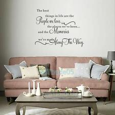 Life Letter Quote DIY Removable Vinyl Decal Art Mural Home Decor Wall Stickers