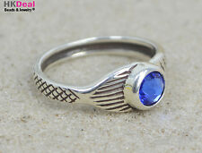 H2O Just Add Water Mako Mermaid Tail Moon Ring Sterling Crystal Sapphire Blue