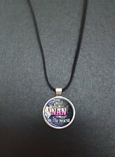 """No.1 Nan In The World Pendant On a 18"""" Black Cord Necklace Ideal Gift N6"""