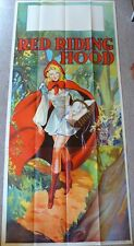 ORIGINAL 1930s PANTOMIME POSTER - RED RIDING HOOD - 3 SHEET