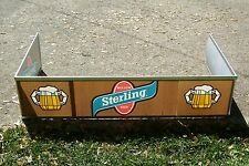 "VINTAGE STERLING BEER CANOPY BEER SIGN NEW OLD STOCK 48""X24""X11"""